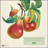 Geburtstagskalender »Alte Obstsorten« - kostbare Buchillustrationen - immerwährend - Premiumpapier - 24 x 24 cm