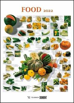 FOOD 2022 - Lebensmittel-Warenkunde - Küchen-Kalender von DUMONT- Poster-Format 49,5 x 68,5 cm