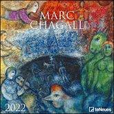 Marc Chagall 2022 - Wand-Kalender - 30x30 - 30x60 geöffnet