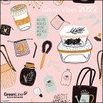 GreenLine Green Vibes 2022 - Wand-Kalender - 17,5x17,5 - 17,5x35 geöffnet