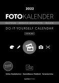 Foto-Bastelkalender schwarz 2022 - aufstellbar - Do it yourself calendar 15x21 cm