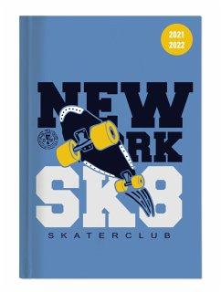 Collegetimer Skate 2021/2022 - Schüler-Kalender A5 (15x21 cm) - Skateboard - Day By Day - 352 Seiten - Terminplaner - Notizbuch - Alpha Edition