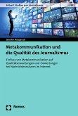 Metakommunikation und die Qualität des Journalismus (eBook, PDF)