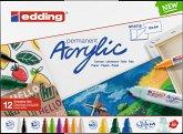 Edding Acrylmarker Acrylic 5000+5100+5300+5400 basic 12er Kreativ Set