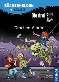 Die drei ??? Kids, Bücherhelden 2. Klasse, Drachen-Alarm! (drei Fragezeichen Kids) (eBook, PDF) - Blanck, Ulf; Pfeiffer, Boris