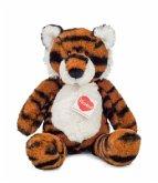 Teddy Hermann 93930 - Tiger Tapsy, Kuscheltier, Plüschtier, 30cm, weiß