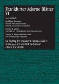 Frankfurter Adorno Blätter VI (eBook, PDF)