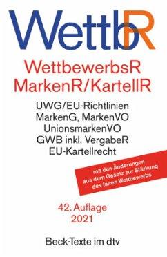 Wettbewerbsrecht (WettbR), Markenrecht (MarkenR), Kartellrecht (KartellR)