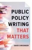 Public Policy Writing That Matters (eBook, ePUB)