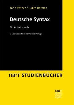 Deutsche Syntax (eBook, PDF) - Pittner, Karin; Berman, Judith