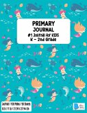 Primary Story Book: Dotted Midline and Picture Space - Mermaid Design- Grades K-2 School Exercise Book - Draw and Write 100 Story Pages -