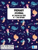 Primary Story Book: Dotted Midline and Picture Space - Mermaid Design - Grades K-2 School Exercise Book - Draw and Write Journal 100 Story