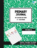 Primary Story Journal: Dotted Midline and Picture Space Green Marble Design Grades K-2 School Exercise Book Draw and Write Note book 100 Stor