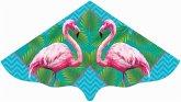 Paul Günther 1108 - Kinderdrachen mit Flamingo Motiv, Einleiner, Drachen, 115 x 63