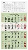 Viermonatskalender 2022 33x59cm grün UWS