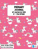 Primary Story Book: Dotted Midline and Picture Space Stylish Unicorn Candy Pink Cover Grades K-2 School Exercise Book Draw and Write 100 S