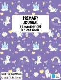 Primary Story Book: Dotted Midline and Picture Space Stylish Unicorn Purple Cover Grades K-2 School Exercise Book Draw and Write 100 Story