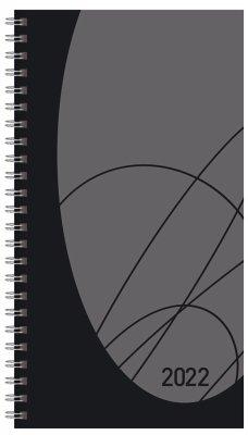 Taschenkalender Modus XL Flexi Colourlux schwarz 2022