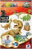 Schmidt 46132 - Jixelz, Jurassic World, 4 Motive oder 1 XXL-Motiv, Puzzle, 1500 Teile