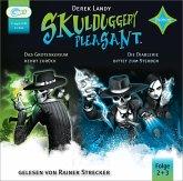 Skulduggery Pleasant - Das Groteskerium schlägt zurück + Die Diablerie bittet zum Sterben, 2 MP3-CD
