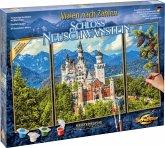 Schipper 609260837 - Malen nach Zahlen, Schloss Neuschwanstein, Triptychon