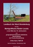 Landbuch der Mark Brandenburg und des Markgrafthums Nieder-Lausitz. Dritter Band, Teil II