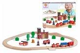 Eichhorn 100001271 - Eisenbahn, Bahnset Feuerwehr, 29tlg