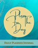 Plans For The Day Daily Planner Journal - Pastel Teal Blue Brown Gold Marble - Abstract Contemporary Modern Design - Ar