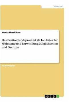 Das Bruttoinlandsprodukt als Indikator für Wohlstand und Entwicklung. Möglichkeiten und Grenzen - Ebenführer, Moritz