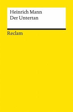 Der Untertan. Roman (eBook, ePUB) - Mann, Heinrich