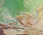 Russland Reliefkarte groß 1:1.150.000 mit Holzrahmen
