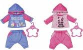 Zapf Creation® 830109 - BABY born Jogginganzug 43 cm, blau oder rosa