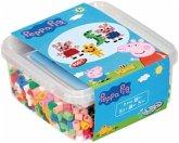 Hama 8750 - Geschenkpackung Peppa Pig, Dose, Bügelperlen maxi, 900 Stück