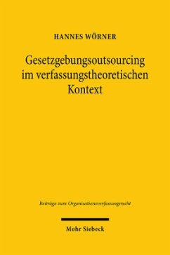 Gesetzgebungsoutsourcing im verfassungstheoretischen Kontext - Wörner, Hannes
