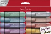Faber-Castell Textmarker TL 46 Metallic 8er Etui (gold, silver, rose, ruby, blue, green, red, violet)