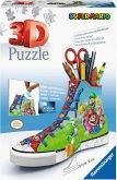 Ravensburger 3D Puzzle Sneaker Super Mario 11267 - praktischer Stiftehalter im Super Mario Design - 108 Teile - ab 8 Jahren