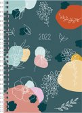 "rido/idé 7021807021 Wochenkalender/Buchkalender 2022 Modell Timing 1 ""Fiori"", Grafik-Einband"