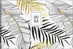 rido/idé 7017507012 Taschenkalender 2022 septimus Grafik, Tropical