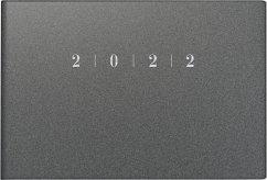 rido/idé 7017563802 Wochenkalender/Taschenkalender 2022 Modell Septimus quer, Kunststoff-Einband Reflection grau