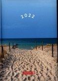 "BRUNNEN 1079515031 Tageskalender/Buchkalender 2022 Modell 795 ""Strand"""