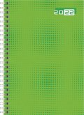 rido/idé 7018504032 Wochenkalender/Buchkalender 2022 Modell futura 2, Grafik-Einband, grün
