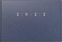 rido/idé 7017563302 Wochenkalender/Taschenkalender 2022 Modell Septimus quer, Kunststoff-Einband Reflection, blau