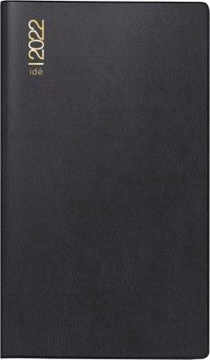 rido/idé 7012112902 Wochenkalender/Taschenkalender 2022 Modell TM 15, Kunststoff-Einband, schwarz