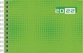 rido/idé 7017107012 Wochenkalender/Taschenkalender 2022 Modell Septimus quer, Grafik-Einband, grün