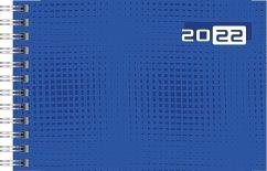 rido/idé 7017107022 Wochenkalender/Taschenkalender 2022 Modell Septimus quer, Grafik-Einband, blau
