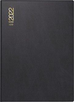 rido/idé 7013202902 Wochenkalender/Taschenkalender 2022 Modell perfect/Technik I, Kunststoff-Einband, schwarz