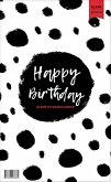 Geburtstagskalender immerwährend. Jahresunabhängiger Kalender für Geburtstage in schwarz/weiß. Geburtstagsübersicht zum Aufhängen mit Spiralbindung für die Familie und fürs Büro
