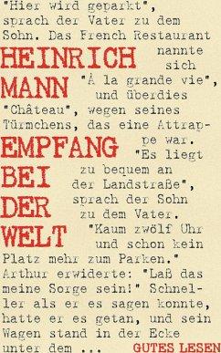 Empfang bei der Welt (eBook, ePUB) - Mann, Heinrich