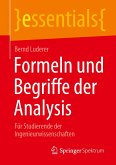 Formeln und Begriffe der Analysis