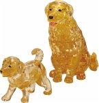Crystal Puzzle - Golden Retrieverpaar